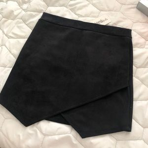 NWT black suede skirt